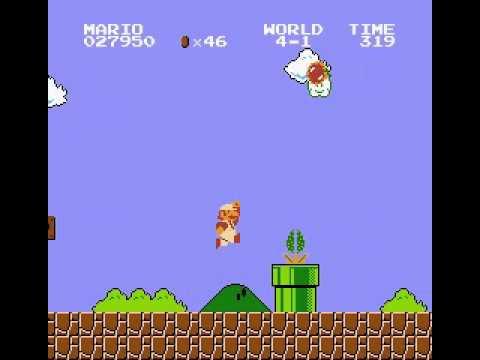 Super Mario Bros. - Unused Spiny Egg Behavior (READ DESCRIPTION)