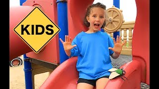 Learn English Playground! Car with Sign Post Kids!