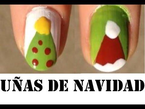 Uñas de Navidad 4 Diseños , Decoración de Uñas Para Navidad , Uñas Navideñas Nail Art