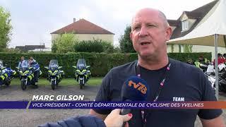 Yvelines | Finale de coupe de France de cyclisme : le peloton moto sécurité assure les arrières