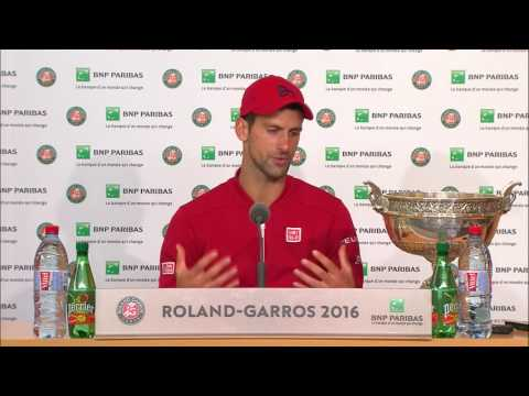French Open Champion 2016: Novak Djokovic FINAL Press Conference