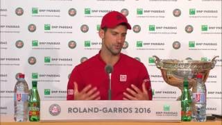 French Open Champion 2016: Novak Djokovic FINAL Press Conference