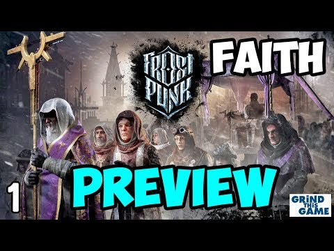FROSTPUNK REVIEW Gameplay #1 - LATEGAME FAITH PATH - Steampunk Ice Survival [4k]