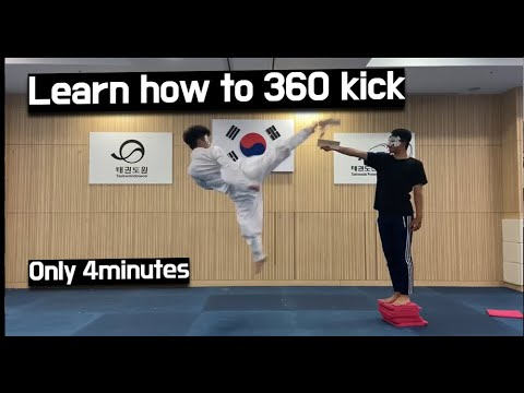 How To 360 Kick In Only 4minutes Learn Fast