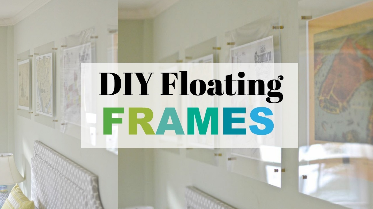 How To Make A Floating Acrylic Frame - YouTube