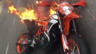 🔥 Epic Supermoto Crashes 2017 | KTM 690 on Fire [EP. 7]