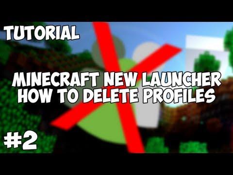 New Minecraft Launcher - How To Delete Profiles