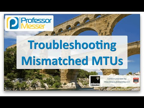 Descargar Video Troubleshooting Mismatched MTUs - CompTIA Network+ N10-006 - 4.6