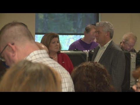 Rep. Karen Handel goes to the polls to vote