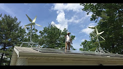 6.3KW Off Grid solar and wind power system install by Off Grid Contracting Part:2 Wind portion