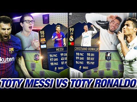 FIFA 18: Heftiges TOTY MESSI vs TOTY RONALDO SQUAD BUILDER BATTLE💎😱🔥 Ultimate Team 😱 vs Wakez