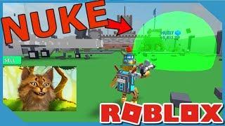 Comprando o melhor nuke em Roblox Destruction Simulator