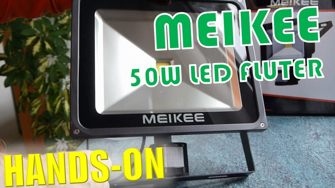 meikee 50w led fluter test ip65 hands on deutsch youtube. Black Bedroom Furniture Sets. Home Design Ideas