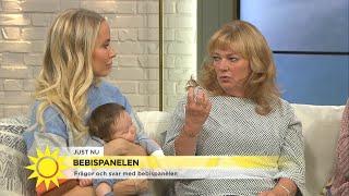 Bebispanelen – så hjälper du en bebis med magknip - Nyhetsmorgon (TV4)