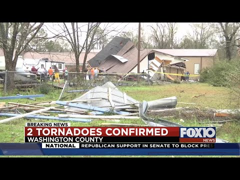Two tornadoes touched down in Washington County