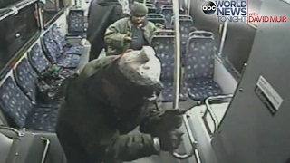 Man Beats Bus Attacker With Cane   ABC News