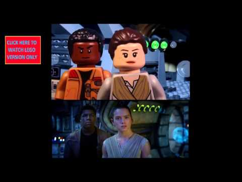 LEGO STAR WARS The Force Awakens Trailer Side by Side