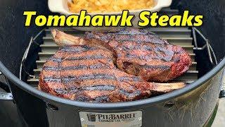 Pit Barrel Tomahawk Steaks at Pit Barrel Headquarters