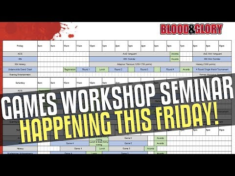 Games Workshop Seminar Incoming! Plus more Blackstone Fortress rumours!