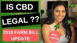 Is CBD Legal | US Farm Bill (2019 Legal Status)