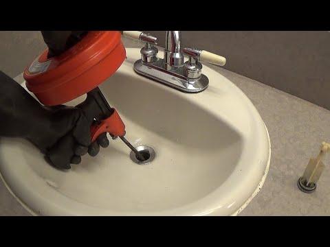 Unclog A Bathroom Sink Drain Snake Youtube