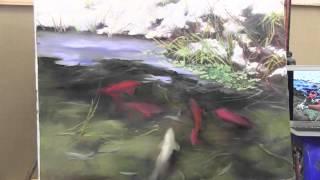 """НОВЫЕ ВИДЕОУРОКИ ИГОРЯ САХАРОВА! """"Рыбки кои в прозрачной воде"""""""