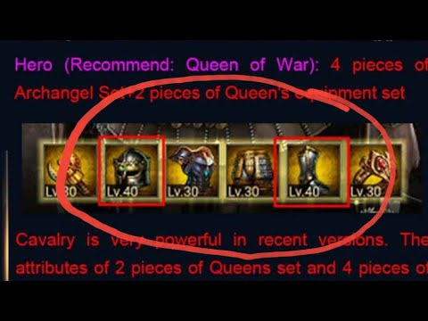 Clash Of Kings : Recommended ARMOR/EQUIPMENT Formations