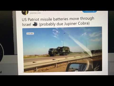 US Patriot Missiles on the Move in Israel