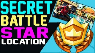SECRET HIDDEN BATTLE STAR WEEK 4 Season 5 LOCATION Fortnite Battle Royale Road Trip Challenges