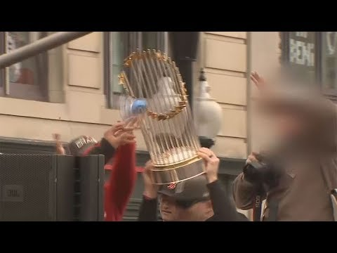 - Watch Fan Damage the World Series Trophy