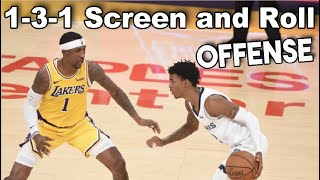 1-3-1 Screen and Roll Basketball Plays