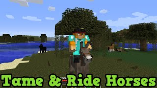 Minecraft Xbox 360 + PS3: How To Tame & Ride Horses + Donkeys