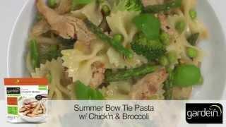 Summer Bow Tie Pasta W/ Chick'n & Broccoli