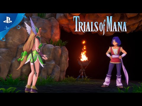 Trials of Mana – Character Spotlight Trailer: Hawkeye and Riesz (3/3) | PS4