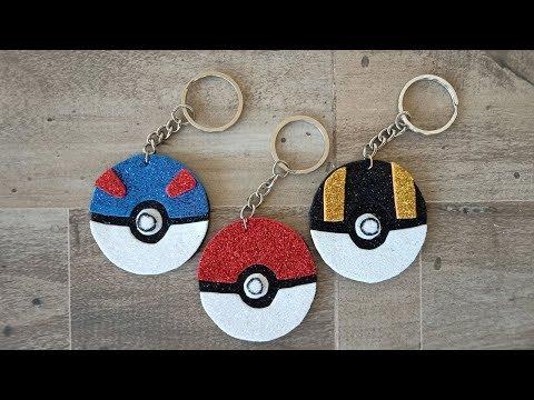 DIY Foam Sheet Pokéball Keychain  How to make Pokéball (Pokémon) Keychain