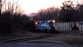 Conrail Blues 5286 and 3026 on CA-20 - 12/30/11