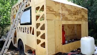 #8 Стены в жилом модуле (сэндвич панель своими руками). Прицеп дом на колесах своими руками.