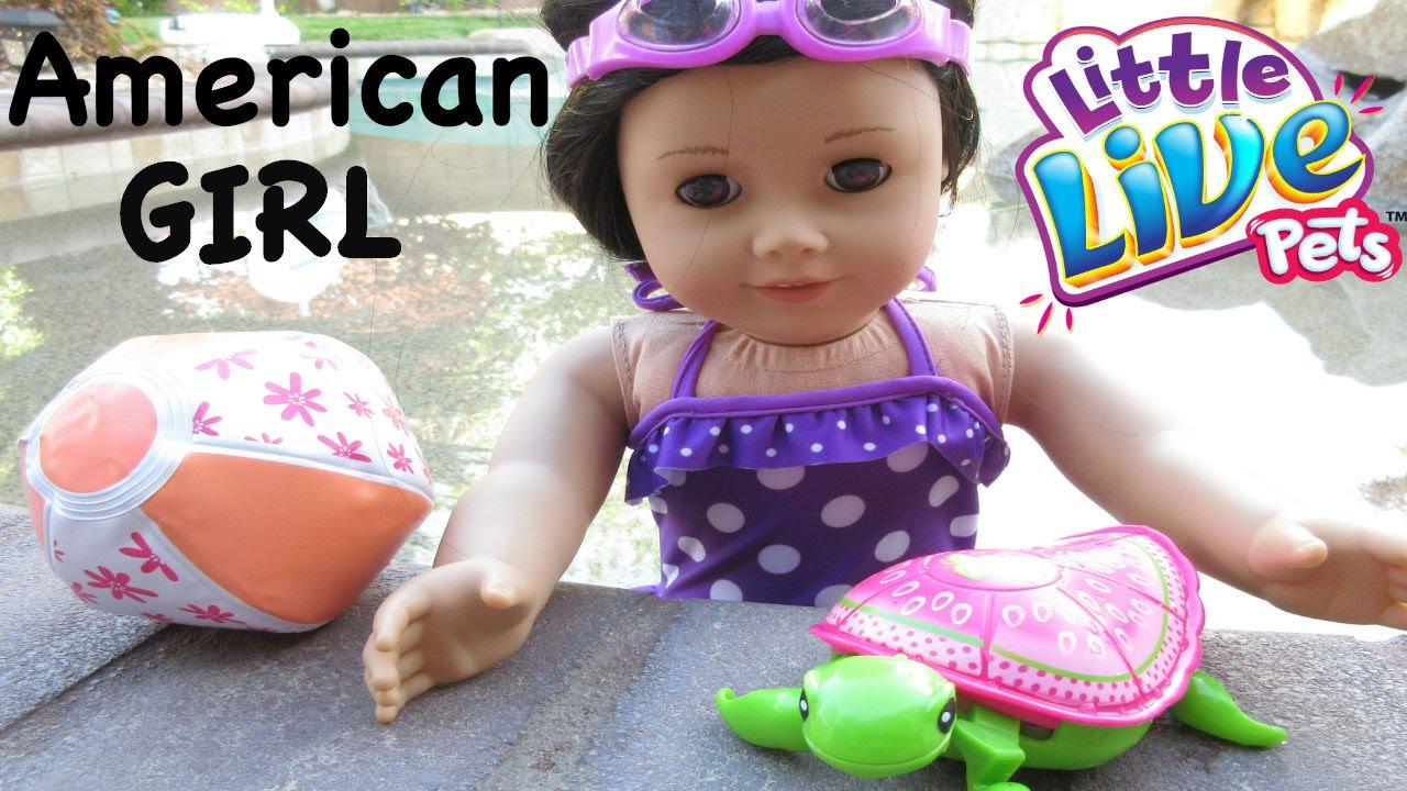 American Girl Swimwear Fail Swimming Turtles Trampoline Youtube