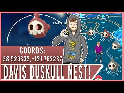 SHINY DUSKULL HUNTING! Huge Duskull Nest with High Spawn Rate at UC Davis!