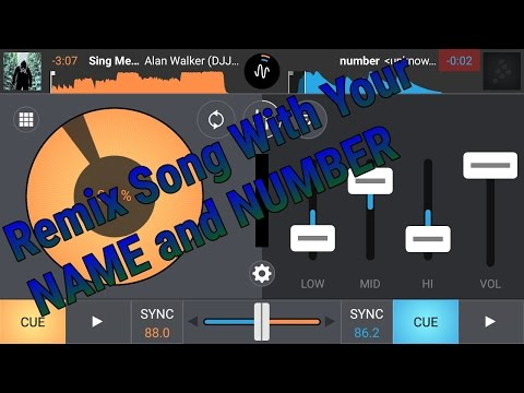 How To Make Your Own Dj NAME & NUMBER In Any Song And Voice Tag in Hindi Part-2 || Android Dj Mixer