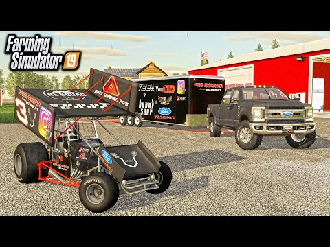 SPRINT CAR PRACTICE FOR THE BIG RACE! (TUNING & PRACTICE LAPS) | FARMING SIMULATOR 2019