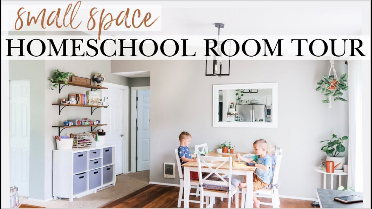 Small Homeschool Room Tour 2019 2020 Minimal Practical Space For Preschool Kindergarten At Home Youtube