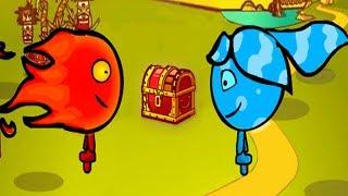 Игра для двоих ПРИКЛЮЧЕНИЯ ОГОНЬ И ВОДА в Лесном Храме #1