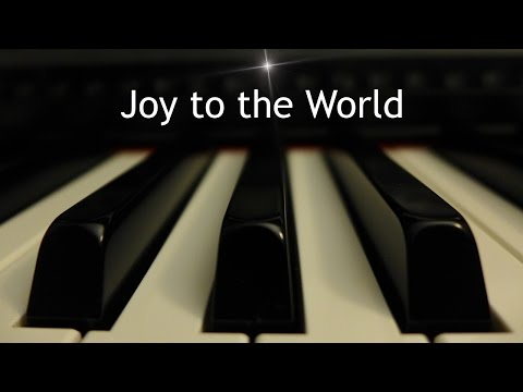 Joy to the World - Christmas piano instrumental with lyrics