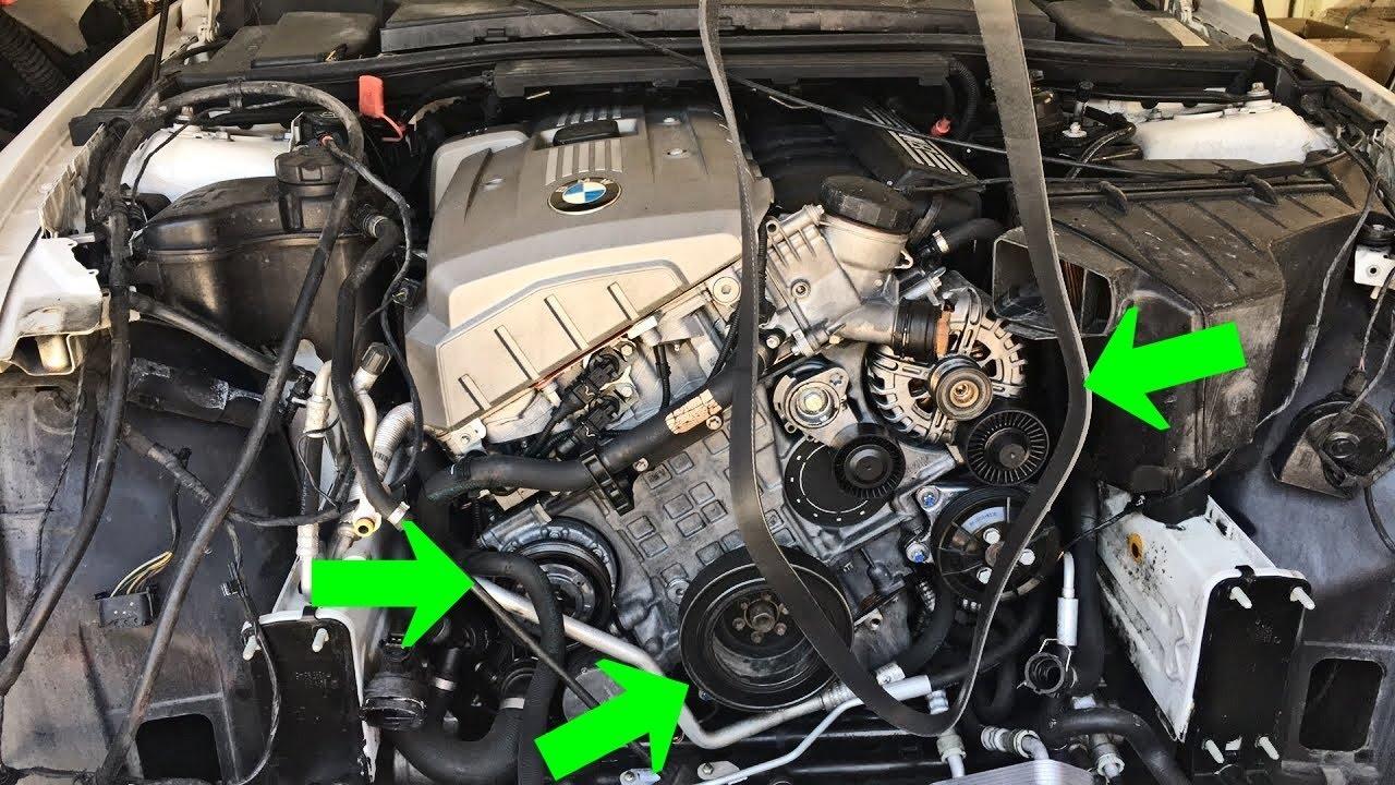 BMW E90 E91 E92 E93 SERPENTINE BELT ROUTING DIAGRAM  YouTube