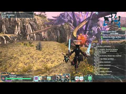 PSO2 Vomos Brodothys is bug in map Naberius (Ultimate)