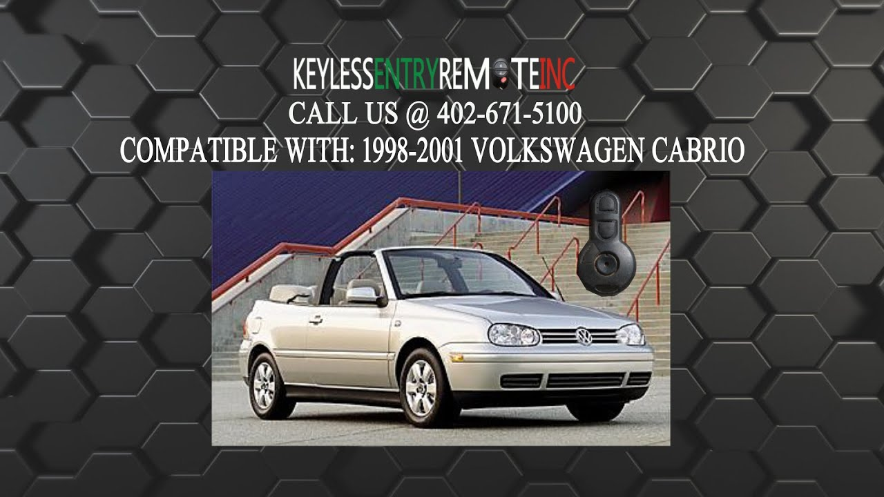 How To Replace Volkswagen Cabrio Key Fob Battery 1998 1999