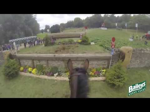 Elite Eventing | Blenheim Horse Trials 2013 Cross Country Head Cam with Georgie Spence