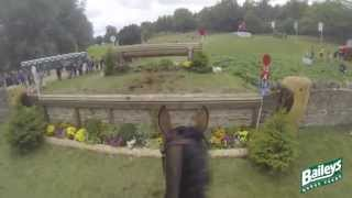 Elite Eventing | Blenheim Horse Trials 2013 Cross Country Head Cam with Georgie Spence