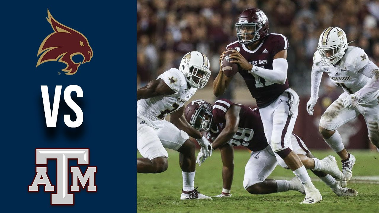 Texas State vs #12 Texas A&M Highlights Week 1 College Football 2019